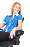 Business woman sitting in chair Royalty Free Stock Images