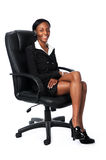 Business Woman Sitting on Chair Royalty Free Stock Photo