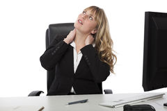 Business woman sitting daydreaming Stock Photography