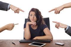 Business woman sitting at desk at the office Stock Photography