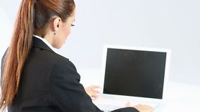 Business woman sitting stock video footage