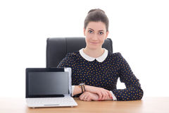 Business woman sitting in office Royalty Free Stock Images