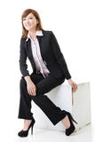 Business woman sitting position Stock Photography