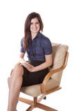 Business woman sitting smile Royalty Free Stock Image