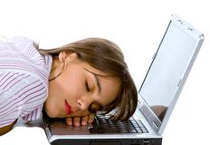 Business woman sleeping Royalty Free Stock Images