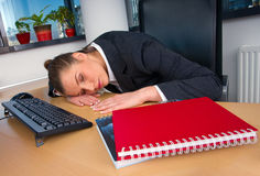 Business woman sleeping Stock Image