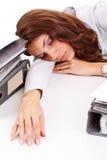 Business woman sleeping Stock Photography