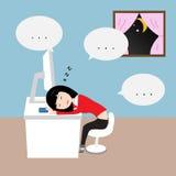 Business woman sleeping Royalty Free Stock Photos