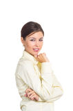 Business woman with a sly glance Royalty Free Stock Photography