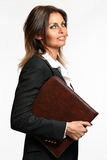 Business woman smart expression Stock Photography