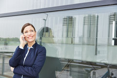 Business woman with smartphone Stock Image