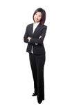 Business woman smile and cross arms Royalty Free Stock Photos