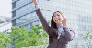 Business woman feel excited royalty free stock photos
