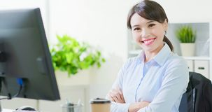 Business woman smile to you royalty free stock images