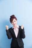 Business woman smile to you Stock Photos