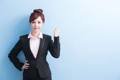 Business woman smile to you Stock Photos