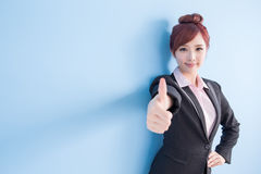 Business woman smile to you Royalty Free Stock Image