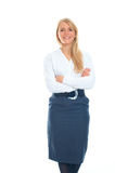 Business woman smiling. Isolated over a white background Royalty Free Stock Images