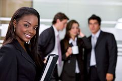 Business woman smiling Stock Images