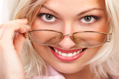 Business woman smiling. Royalty Free Stock Photography
