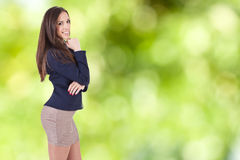Business woman smiling Stock Photography