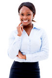Business woman smiling Stock Photo