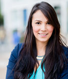 Business woman smiling Stock Photos