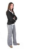 Business woman smiling - full body Stock Photo