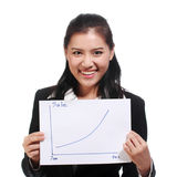 Business woman smiling happily Success Royalty Free Stock Image