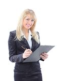 Business woman smiling isolated Stock Image