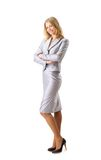 Business woman smiling over white background Stock Images