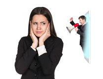 Business woman speak to the cell phone Stock Image
