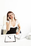 Business woman speaking on  phone Stock Photography