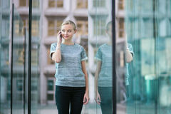 Business woman speaking on the phone Stock Photos