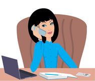 Business woman speaks on the phone Royalty Free Stock Photo