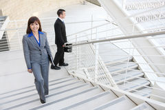 Business Woman on Stairs Stock Photos