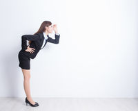 Business woman stand and look royalty free stock photos
