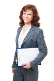 business woman stand with tablet Stock Photo