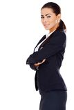 Business woman standing with arms crossed Royalty Free Stock Photos