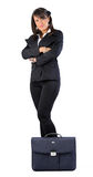 Business Woman Standing with crossed hands Stock Photo