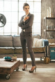 Business woman standing in loft  Stock Photos