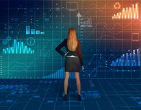 Business woman standing and looking back at the Royalty Free Stock Photo