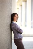 Business woman standing outside with arms crossed Stock Photography