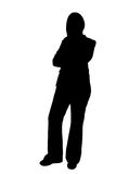 Business woman standing silhouette illustration Stock Photos