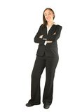 Business woman standing and smiling Stock Photography