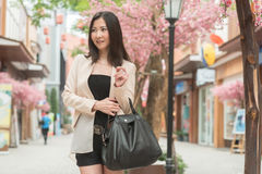 Business woman standing on the street Stock Images