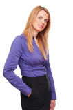 Business woman standing in studio Royalty Free Stock Images