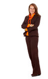 Business woman standing up Stock Images