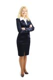 Business woman standing wearing elegant clothes Royalty Free Stock Photo