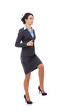 Business woman stepping up Stock Image